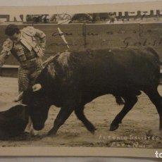 Tauromaquia: ANTIGUA FOTOGRAFIA.TORERO ANTONIO GALISTEO.FOTO RUIZ.MEXICO 1951.DEDICADA Y FIRMADA. Lote 178389046