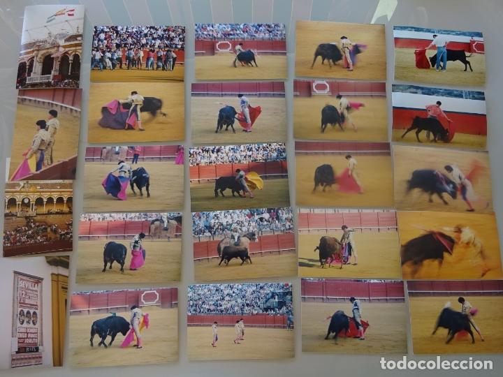 Tauromaquia: LOTE MÁS DE 300 FOTOGRAFÍAS CORRIDAS TOROS MÁLAGA SEVILLA. TOREROS. CURRO ROMERO, JESULÍN, 1,58 KG - Foto 5 - 178864002