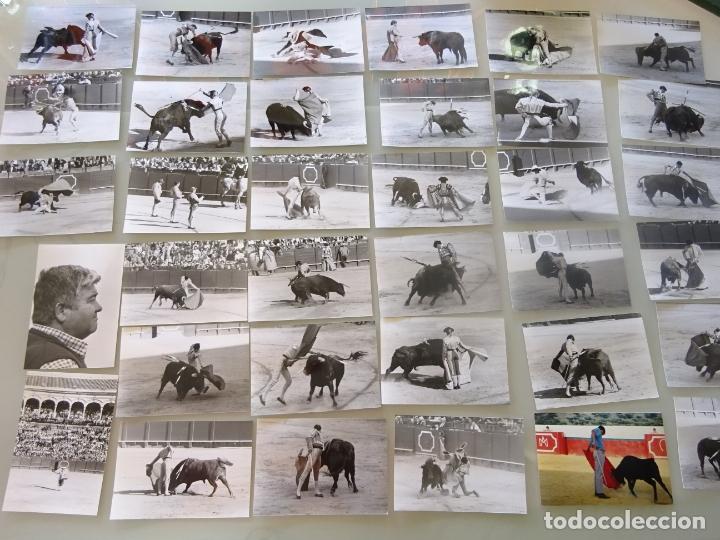 LOTE MÁS DE 300 FOTOGRAFÍAS CORRIDAS TOROS MÁLAGA SEVILLA. TOREROS. CURRO ROMERO, JESULÍN, 1,58 KG (Coleccionismo - Tauromaquia)