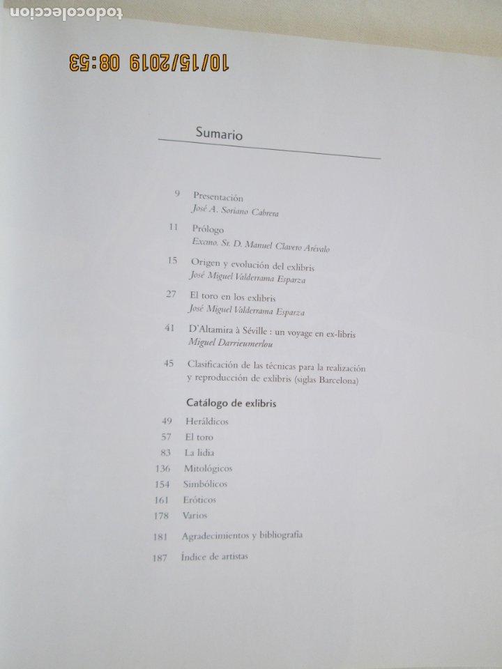 Tauromaquia: EL TORO EN LOS EXLIBRIS , EXLIBRIS TAURINOS , JOSE MIGUEL VALDERRAMA -Junta de Andalucía, 2004 1ª ED - Foto 3 - 179338041
