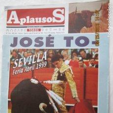 Tauromaquia: REVISTA APLAUSOS Nº 1126 ABRIL 1999 - JOSÉ TOMAS MÁS QUE LOS DEMÁS, SEVILLA FERIA 1999.. Lote 179554560