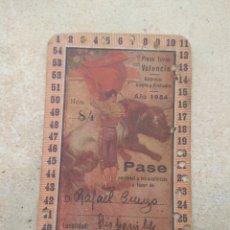 Tauromaquia: PASE PLAZA DE TOROS DE VALENCIA AÑO 1954. Lote 180007812