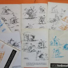 Tauromaquia: LOTE 9 APUNTES DEL NATURAL DE JOSE DOMINGUEZ AÑOS 1968/1970. Lote 180256368