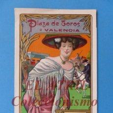 Tauromaquia: VALENCIA - PROGRAMA TRIPTICO DE TOROS - AÑO 1910 - BOMBITA Y GALLITO. Lote 180442748