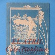 Tauromaquia: VALENCIA - PROGRAMA TRIPTICO DE TOROS - AÑO 1910 - GALLITO, COCHERITO, GAONA, PEREZ DE LA CONCHA. Lote 180443358
