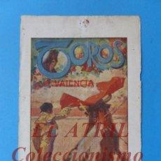 Tauromaquia: VALENCIA - PROGRAMA DOBLE DE TOROS - AÑO 1925 - CHICUELO, LITRI, BELMONTE, LALANDA, CONCHA Y SIERRA. Lote 180443985