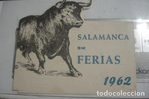SALAMANCA EN FERIAS 1962 - PORTAL DEL COL·LECCIONISTA ***** (Coleccionismo - Tauromaquia)