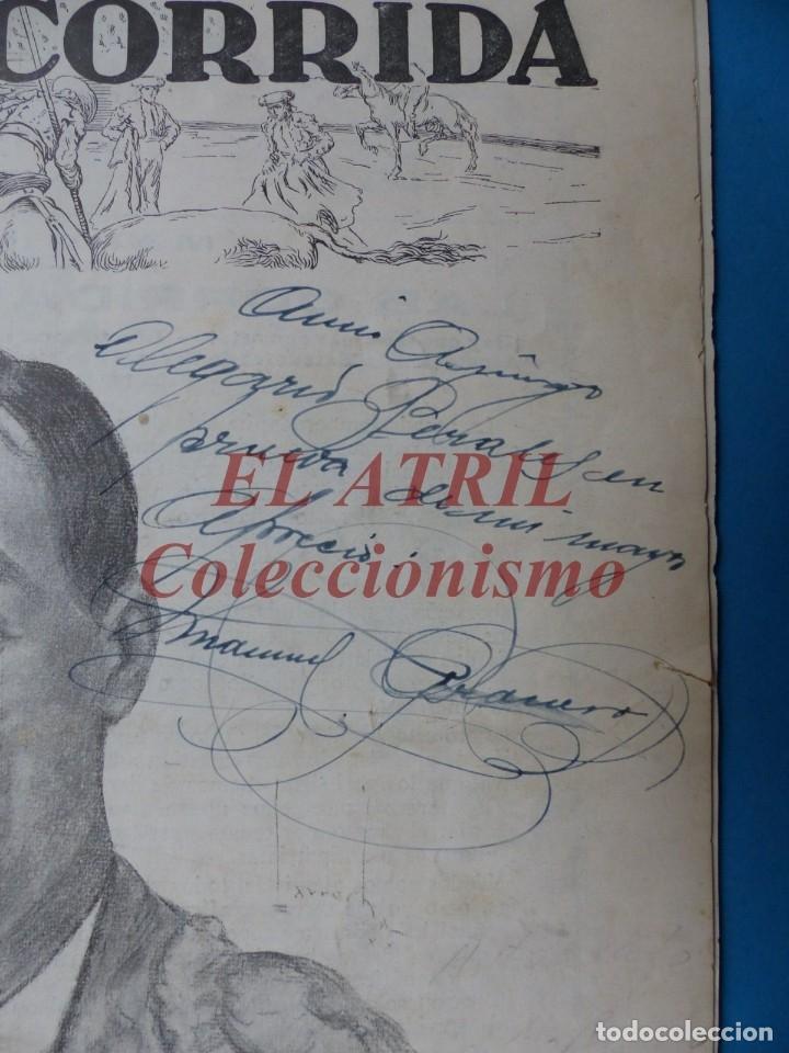 Tauromaquia: REVISTA TOROS LA CORRIDA, Nº 84 - AÑO 1921 - AUTOGRAFO ORIGINAL TORERO MANUEL GRANERO - MUY RARO - Foto 2 - 180481902