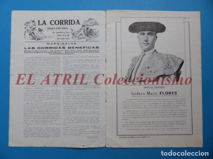 Tauromaquia: REVISTA TOROS LA CORRIDA, Nº 84 - AÑO 1921 - AUTOGRAFO ORIGINAL TORERO MANUEL GRANERO - MUY RARO - Foto 3 - 180481902