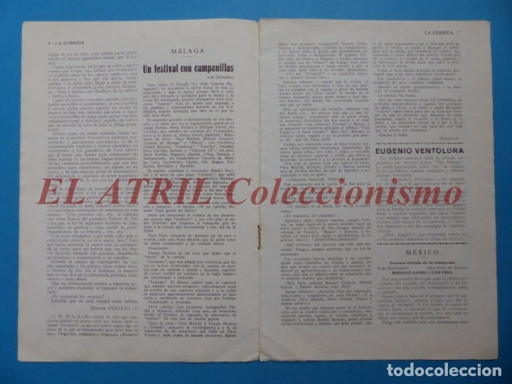 Tauromaquia: REVISTA TOROS LA CORRIDA, Nº 84 - AÑO 1921 - AUTOGRAFO ORIGINAL TORERO MANUEL GRANERO - MUY RARO - Foto 5 - 180481902