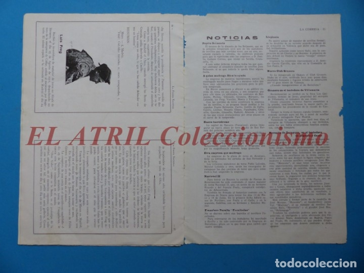Tauromaquia: REVISTA TOROS LA CORRIDA, Nº 84 - AÑO 1921 - AUTOGRAFO ORIGINAL TORERO MANUEL GRANERO - MUY RARO - Foto 10 - 180481902