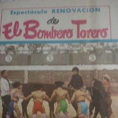 Tauromaquia: DÍPTICO BOMBERO TORERO 1968 - PORTAL DEL COL·LECCIONISTA *****. Lote 181009642