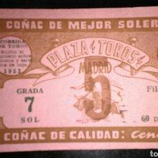 Tauromaquia: ENTRADA TOROS MADRID SAN ISIDRO 5 (1953). Lote 181954163