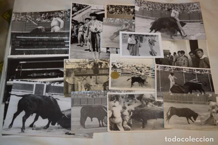 COLECCIÓN DE 17 FOTOGRAFÍAS VARIADAS, DE FESTEJOS TAURINOS Y SUS PERSONAJES - AÑOS 50/60 ¡MIRA! (Coleccionismo - Tauromaquia)