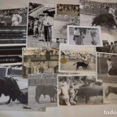 Tauromaquia: COLECCIÓN DE 17 FOTOGRAFÍAS VARIADAS, DE FESTEJOS TAURINOS Y SUS PERSONAJES - AÑOS 50/60 ¡MIRA!. Lote 182362163