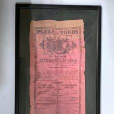 Tauromaquia: PLAZA DE TOROS CARTAGENA 1894. CUADRO. CARTEL DE TOROS. GRAN CORRIDA DE TOROS. . Lote 183269812