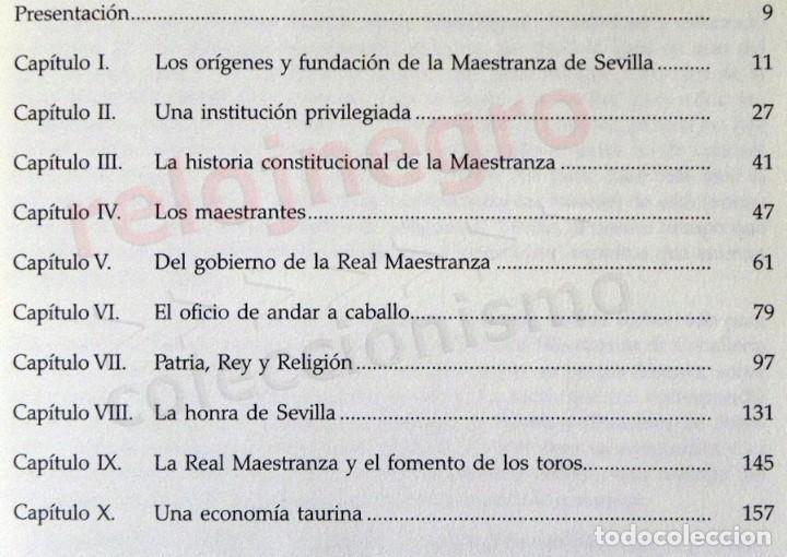 Tauromaquia: LA REAL MAESTRANZA DE CABALLERÍA SEVILLA 1670 1990 de JUEGOS ECUESTRES A FIESTA TOROS LIBRO HISTORIA - Foto 3 - 184732325