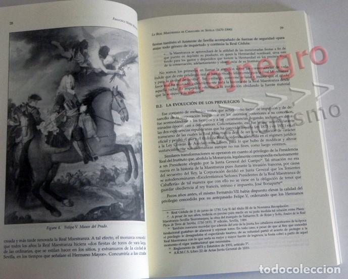 Tauromaquia: LA REAL MAESTRANZA DE CABALLERÍA SEVILLA 1670 1990 de JUEGOS ECUESTRES A FIESTA TOROS LIBRO HISTORIA - Foto 5 - 184732325