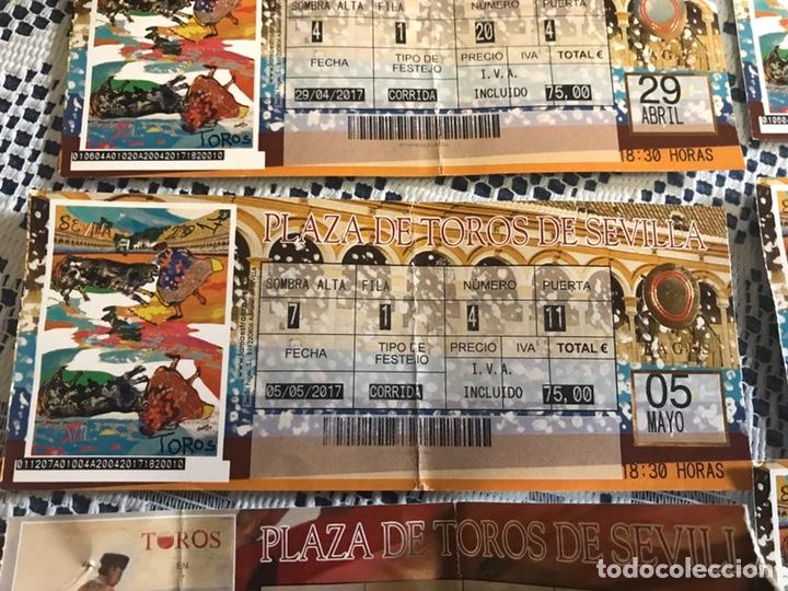 Tauromaquia: Lote 6 entradas de toros años 2017-2019 plaza de toros de Sevilla - Foto 3 - 186151333