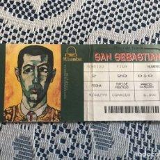 Tauromaquia: ENTRADA DE TOROS 9 DE AGOSTO 1999 PLAZA DE TOROS DE SAN SEBASTIÁN. Lote 186151671