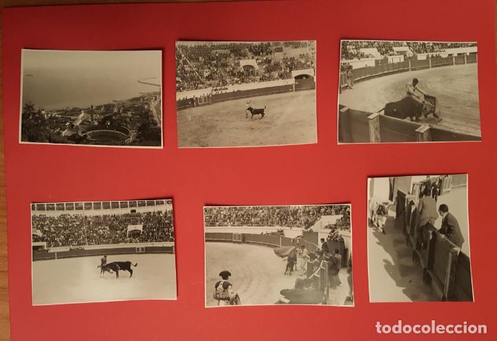 6 FOTOGRAFÍAS ANTIGUAS: PLAZA DE TOROS DE MELILLA (1950'S) ¡ORIGINALES! COLECCIONISTA (Coleccionismo - Tauromaquia)