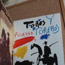 Tauromaquia: TOROS Y TOREROS. TEXTE DE LUIS MIGUEL DOMINGUÍN ET UNE ÉTUDE DE GEORGES BOUDAILLE. PICASSO (PABLO). Lote 187305788