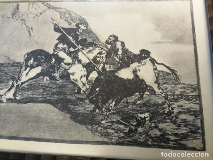 Tauromaquia: TAUROMAQUIA GOYA 3 LÁMINAS ANTIGUAS ENMARCADAS EN MADERA Nº 1-3-7 AÑOS 70 - Foto 6 - 189477865
