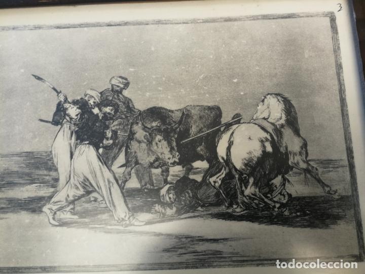Tauromaquia: TAUROMAQUIA GOYA 3 LÁMINAS ANTIGUAS ENMARCADAS EN MADERA Nº 1-3-7 AÑOS 70 - Foto 7 - 189477865
