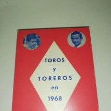 Tauromaquia: TOROS Y TOREROS EN 1968, EDMUNDO ORTS CLIMENT. Lote 189904967