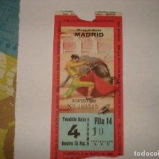 Tauromaquia: ENTRADA TOROS MADRID 1955. Lote 190765712