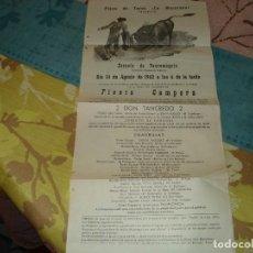 Tauromaquia: CARTEL PLAZA TOROS LA MACARENA EN FELANITX. Lote 190766343