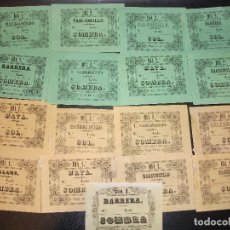 Tauromaquia: SIGLO XIX EXCEPCIONAL MUESTRARIO 74 ENTRADAS DE TOROS DE LA IMPRENTA DE LA REVISTA MÉDICA DE CÁDIZ. Lote 190856236