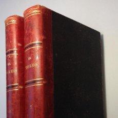 Tauromaquia: AÑO 1879 * EL TOREO * 2 VOLUMENES * 1150 PAGINAS + MAS LAMINAS DE TOREROS Y SUERTES. Lote 191389588