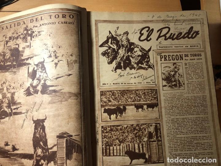 Tauromaquia: El Ruedo. Suplemento taurino de Marca. 40 primeros números. Toros. - Foto 4 - 191400985