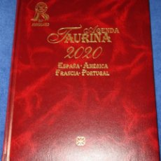 Tauromaquia: AGENDA TAURINA 2020 - 26 ANIVERSARIO - EDITORIAL TEMPLE (VIDAL PÉREZ HERRERO). Lote 191750563