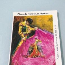 Tauromaquia: PROGRAMA SAN ISIDRO 96. PLAZA DE TOROS DE LAS VENTAS. PRECIOSO DISEÑO DE PORTADA.. Lote 192055761