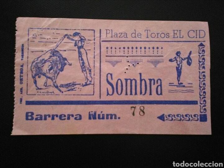 ENTRADA TOROS EL CID (Coleccionismo - Tauromaquia)