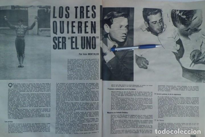 Tauromaquia: REVISTA SEMANA, AÑOS 60, LOS 3 TOREROS DEL MOMENTO - Foto 3 - 194085496