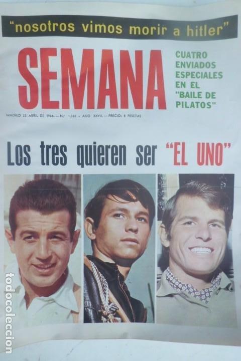 Tauromaquia: REVISTA SEMANA, AÑOS 60, LOS 3 TOREROS DEL MOMENTO - Foto 4 - 194085496