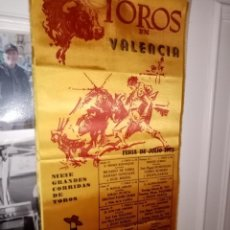 Tauromaquia: CARTEL SEDA VALENCIA FERIA 1973 CON -C.ROMERRO- L. M. DOMINGUIZ Y OTROS 9 GRANDES CORRIDAS -25X50. Lote 194230517