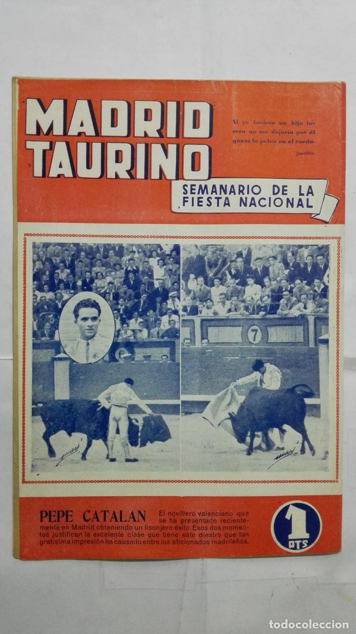 Tauromaquia: MADRID TAURINO, SEMANARIO DE LA FIESTA NACIONAL, Nº 453, SEPTIEMBRE 1944 - Foto 2 - 194247066