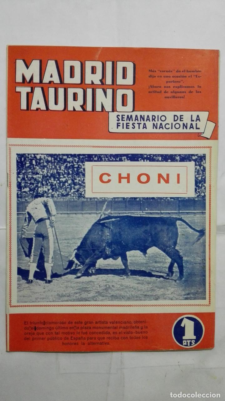 MADRID TAURINO, SEMANARIO DE LA FIESTA NACIONAL, Nº 453, SEPTIEMBRE 1944 (Coleccionismo - Tauromaquia)