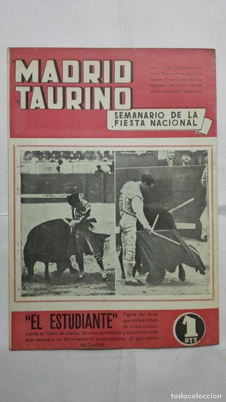 Tauromaquia: MADRID TAURINO, SEMANARIO DE LA FIESTA NACIONAL, Nº 468, DICIEMBRE 1944 - Foto 2 - 194247298