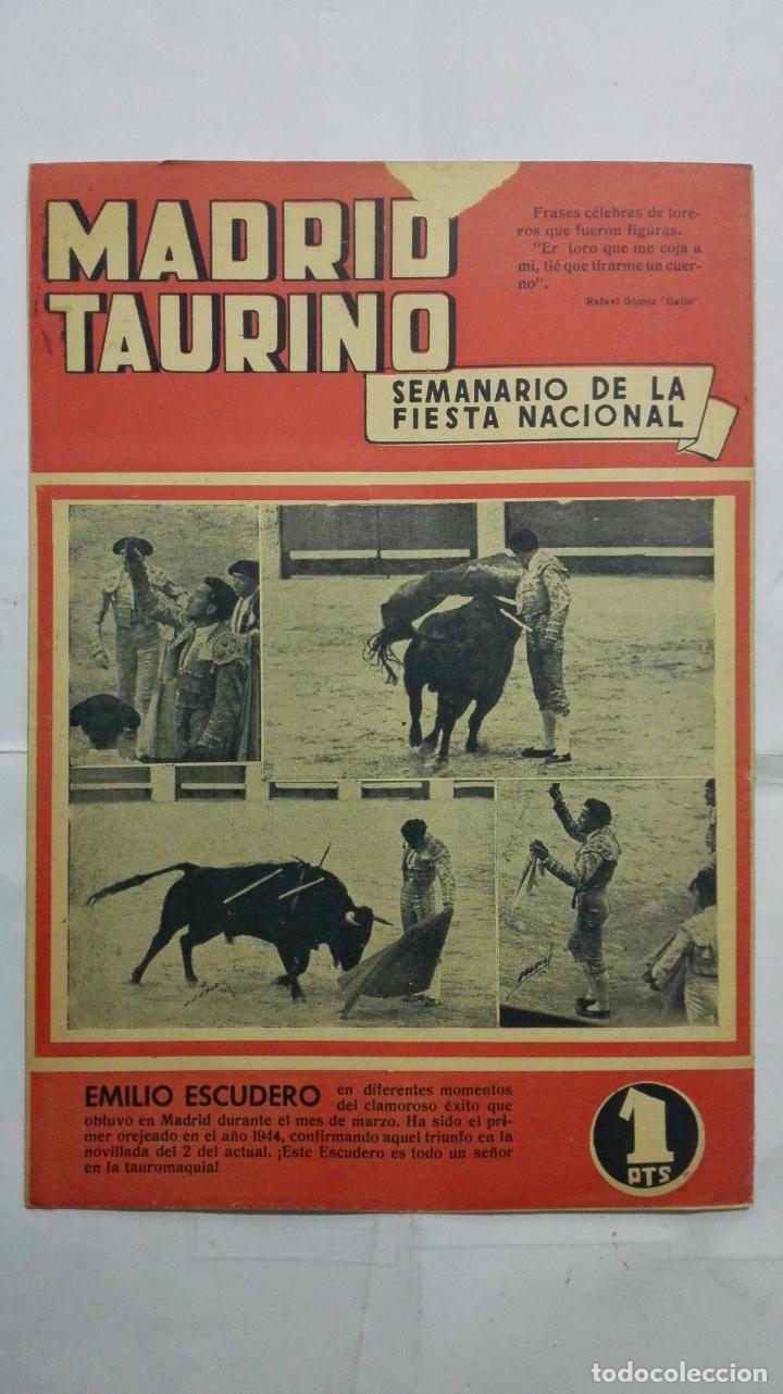 Tauromaquia: MADRID TAURINO, SEMANARIO DE LA FIESTA NACIONAL, Nº 432, ABRIL 1944 - Foto 2 - 194247507