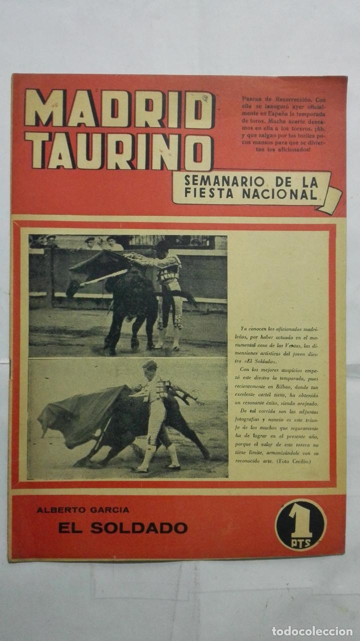 MADRID TAURINO, SEMANARIO DE LA FIESTA NACIONAL, Nº 432, ABRIL 1944 (Coleccionismo - Tauromaquia)