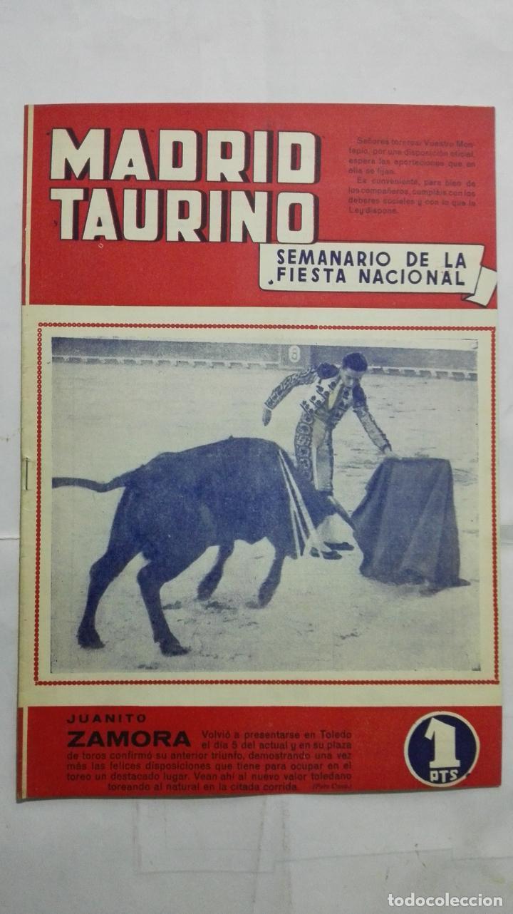 MADRID TAURINO, SEMANARIO DE LA FIESTA NACIONAL, Nº 462, NOVIEMBRE 1944 (Coleccionismo - Tauromaquia)