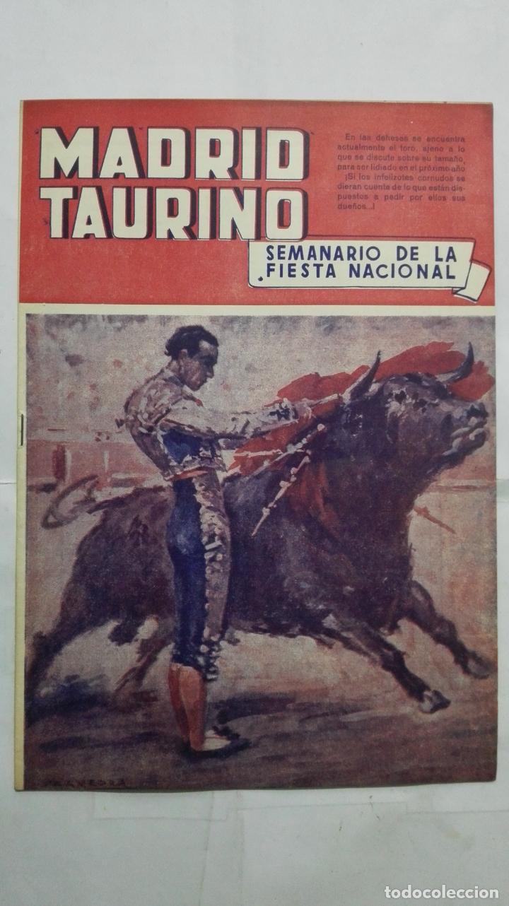 MADRID TAURINO, SEMANARIO DE LA FIESTA NACIONAL, Nº 463, NOVIEMBRE 1944 (Coleccionismo - Tauromaquia)