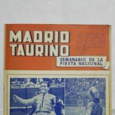 Tauromaquia: MADRID TAURINO, SEMANARIO DE LA FIESTA NACIONAL, Nº 465, DICIEMBRE 1944. Lote 194248022