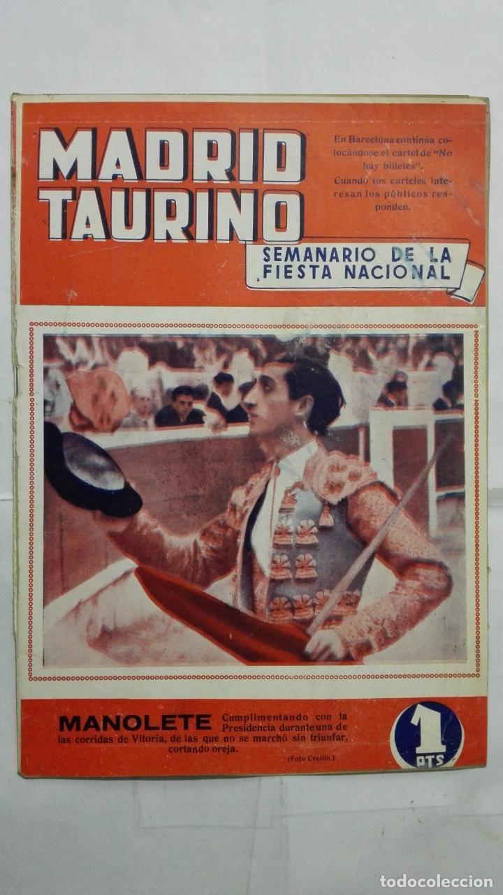 MADRID TAURINO, SEMANARIO DE LA FIESTA NACIONAL, Nº 450, AGOSTO 1944 (Coleccionismo - Tauromaquia)