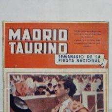 Tauromaquia: MADRID TAURINO, SEMANARIO DE LA FIESTA NACIONAL, Nº 450, AGOSTO 1944. Lote 194248125